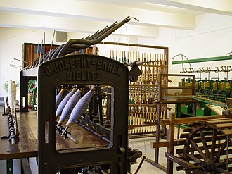 Bielsko-Biała Museum and Castle - Machines at the preliminary section in the Museum of Technology