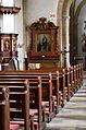 Madfeld, St. Margaretha Blick durch die Kirche.JPG