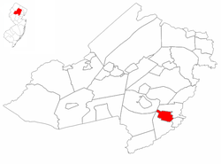 Madison highlighted in Morris County Inset map: Morris County highlighted in the state of New Jersey