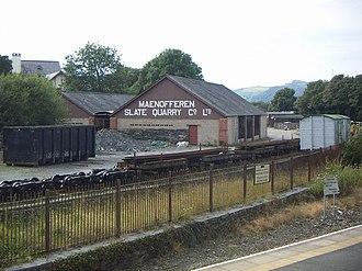 Minffordd railway station - The Minffordd Yard
