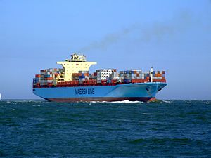 Maersk Sofia p11 approaching Port of Rotterdam, Holland 04-Aug-2007.jpg