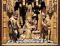 Maestro del 1518, altare domestico con annunciazione, visitazione e adorazione dei pastori, 1520 ca. 02.jpg