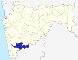 Location of Sangli district in Maharashtra