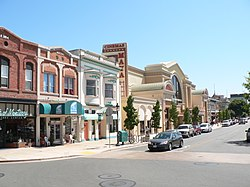Old Main street in recently revived downtown Salinas, featuring Maya Cinemas, home of the largest cinema screen in Monterey County as of April 2006.