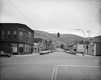 National Register of Historic Places listings in Deer Lodge County, Montana - Image: Main Street in Anaconda