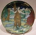Maiolica di casteldurante, piatto con piede col suicidio di didone, 1522.JPG