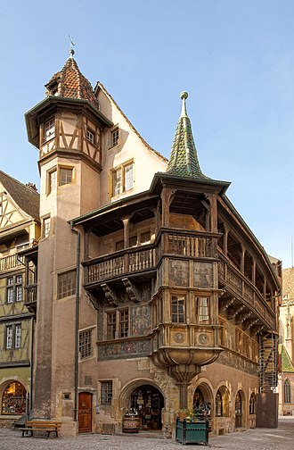 Colmar - Maison Pfister. The house can easily be spotted in Howl's Moving Castle.