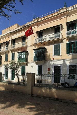 Malta–Turkey relations - Turkish Embassy in Floriana