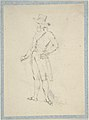 Man in broad brimmed hat (sketchbook page) MET DP805076.jpg