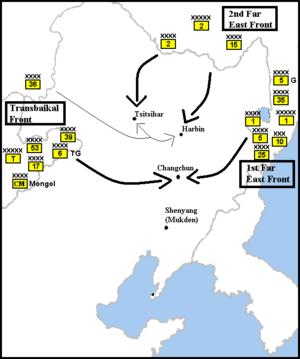 Soviet invasion of Manchuria - Image: Manchuria 1945 A