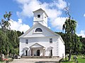 Mandal Kirche von 1821 mi 1800 Sitzplätzen größte Holzkirche in Norwegen Foto Wolfgang Pehlemann IMG 9319.jpg