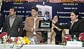 """Manish Tewari launched the """"e-version"""" of Rozgar Samachar, Urdu"""", at a function, in New Delhi on February 05, 2013. The ADG (IC), Publications Division, Ms. Ira Joshi and other dignitaries are also seen.jpg"""