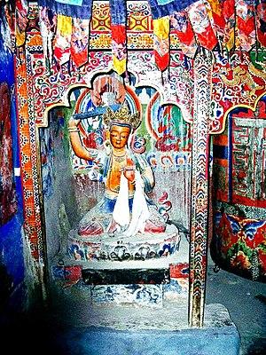 Manjushri - Manjushri statue. Lhalung Gompa, Spiti Valley, India