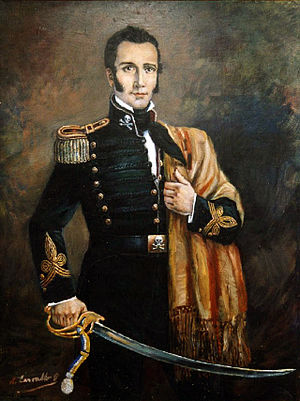 Manuel Rodríguez Erdoíza - Wearing his Húsares de la Muerte uniform