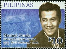 Manuel Conde 2015 stamp of the Philippines.jpg