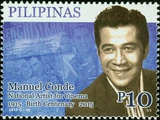 Manuel Conde - Image: Manuel Conde 2015 stamp of the Philippines