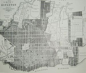 Kingston, Jamaica - Map of Kingston 1897