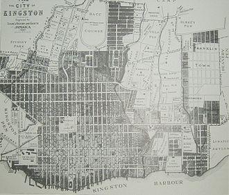 Kingston, Jamaica - Map of Kingston 1897