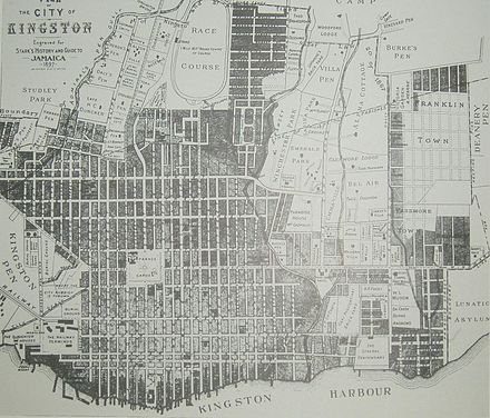 Map of Kingston 1897