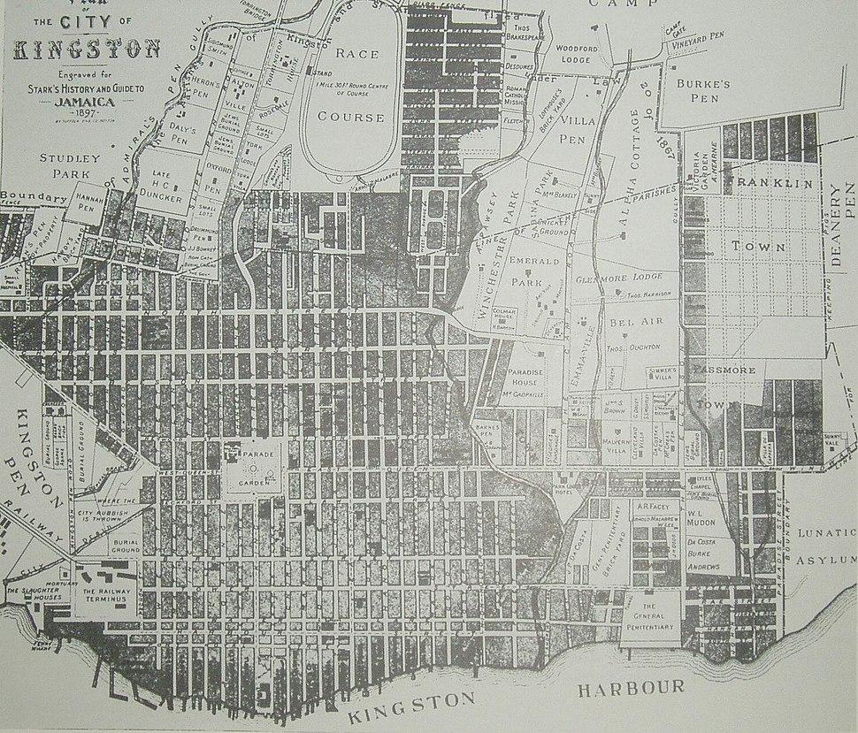 Map Kingston 1897