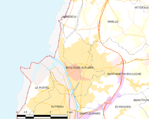 Battle of Boulogne (1940) - Image: Map commune FR insee code 62160
