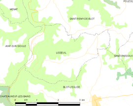 Mapa obce Lisseuil