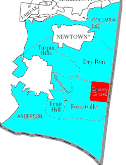 Detailed map of Anderson Township