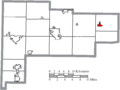 Map of Auglaize County Ohio Highlighting Waynesfield Village.png