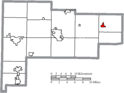Location of Waynesfield in Auglaize County