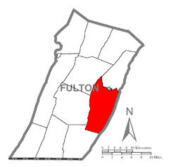 Map of Ayr Township, Fulton County, Pennsylvania Highlighted.png