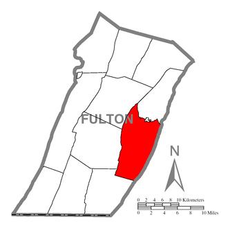 Ayr Township, Fulton County, Pennsylvania - Image: Map of Ayr Township, Fulton County, Pennsylvania Highlighted