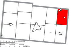 Location of Rush Township in Champaign County