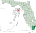 Map of Florida highlighting North Miami.png