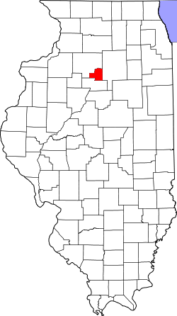map of Illinois highlighting Putnam County