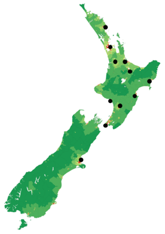 Mai FM - This map shows the Mai FM stations operating in 2016.