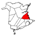 Map of New Brunswick highlighting Kent County 2.png
