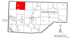 Map of Spring Township, Crawford County, Pennsylvania Highlighted.png