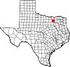 State map highlighting Collin County