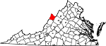 State map highlighting Highland County