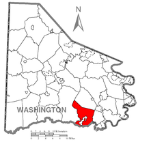 Map of West Bethlehem Township, Washington County, Pennsylvania Highlighted.png