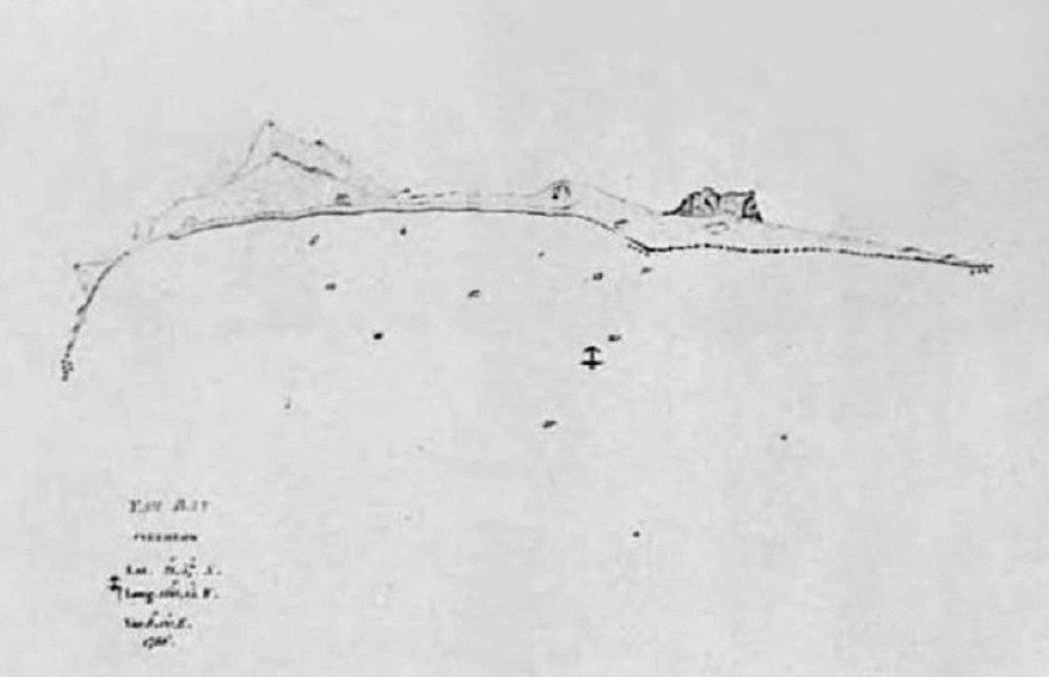 Map of Yam Bay and Niihau, Captain George Dixon's Journal, 1788