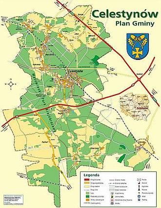 Gmina Celestynów - Image: Mapa Gminy Celestynówz