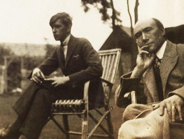 Андре Жид и Марк Аллегре в 1920 году