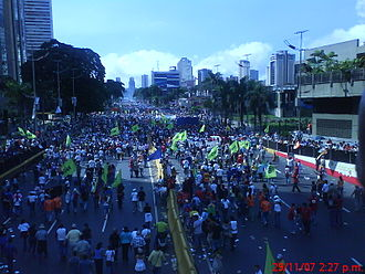 """2007 Venezuelan constitutional referendum - 29 November rally by the supporters of the """"No"""" vote"""