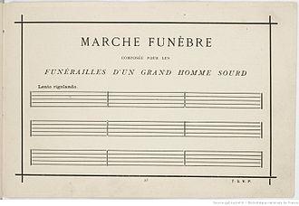 Alphonse Allais - Marche funèbre composée pour les funérailles d'un grand homme sourd (Funeral March for the Obsequies of a Deaf Man)