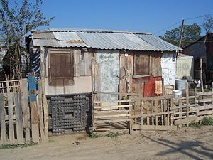 "Poverty in Mexico - Marginalized settlement ""Colinas del Río"", in the municipality Benito Juárez, Nuevo León, 2005."