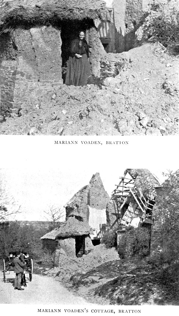 "alt""Top: Mariann Voaden, Bratton; Bottom: Mariann Voaden's Cottage, Bratton"