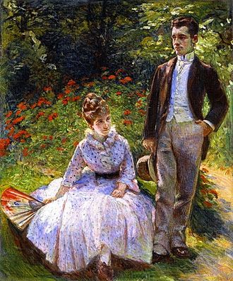 Marie Bracquemond - Image: Marie Bracquemond The Artist's Son and Sister in the Garden at Sevres