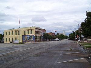 Marquette, Kansas - Image: Marquette Kansas downtown block