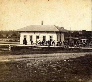 Greenbush Line - Marshfield station in the 1860s